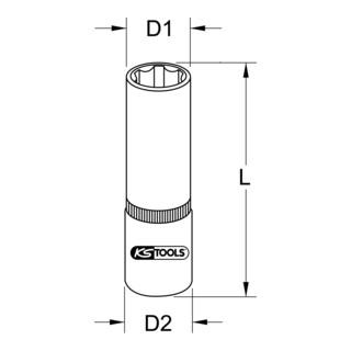 KS Tools 1/2'' BRONZEplus Stecknuss 6-kant, lang