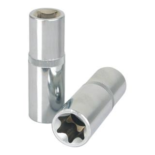 KS Tools 1/2'' CHROMEplus TX-E-Stecknuss, lang
