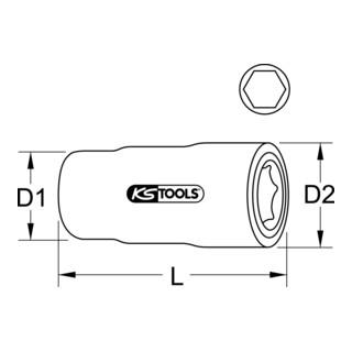 KS Tools 1/2'' Isolierte Stecknuss