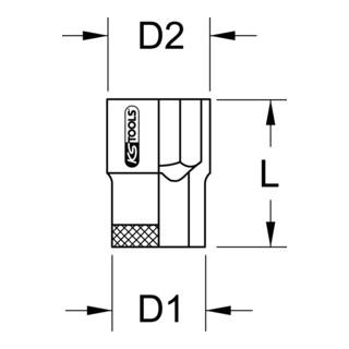 KS Tools 1/2'' Isolierte Stecknuss (Zoll)