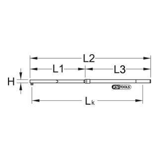 KS Tools 1/2''ALUTORQUEprecision-Drehmomentschlüssel