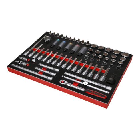 """KS Tools 1/2"""" Bit-Stecknuss-Satz in Schaumstoffeinlage, 64-tlg"""