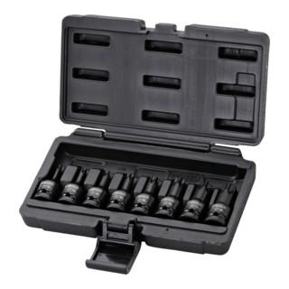 KS Tools 1/2'' Kraft-Bit-Stecknuss-Satz TX, 8-teilig, T30-T80 kurze Ausführung