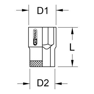 KS Tools 1'' BRONZEplus Stecknuss 6-kant (Zoll)