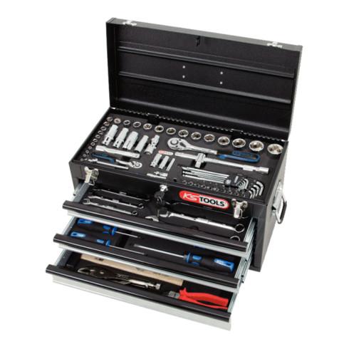 """KS Tools 1/4""""+1/2"""" CHROMEplus Universal-Werkzeug-Satz, 99-teilig"""