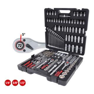 KS Tools 1/4''+3/8''+1/2'' Steckschlüssel-Satz, 216-tlg.