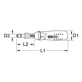 KS Tools 1/4'' Drehmomentschraubendreher
