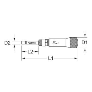 KS Tools 1/4'' ESD Drehmomentschraubendreher Mikrometerskala