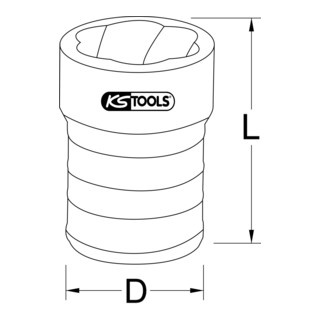 KS Tools 1/4'' Spiral-Profil-Kraft-Stecknuss