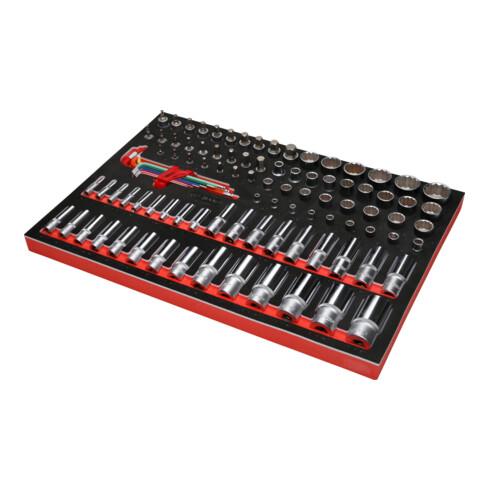 """KS Tools 1/4"""" + 3/8"""" + 1/2"""" Steckschlüssel-Satz in Schaumstoffeinlage, 99-tlg, Zoll"""