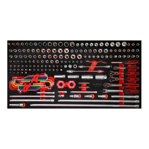 """KS Tools 1/4"""" + 3/8"""" Steckschlüssel-Satz in Schaumstoffeinlage, 183-tlg"""