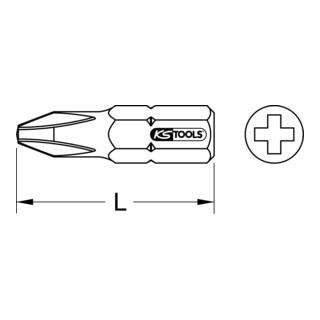 "25mm 5er Pack KS Tools 1//4/"" CLASSIC Bit PH PH000"