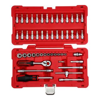 """KS Tools 1/4"""" Steckschlüssel-Satz, 50-tlg."""