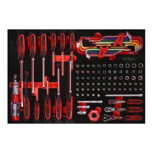 """KS Tools 1/4"""" Steckschlüssel- / und Schraubendreher-Satz in Schaumstoffeinlage, 105-tlg"""