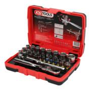 """KS Tools 1/4"""" TORSIONpower Bit-Stecknuss-Box, 33-tlg."""