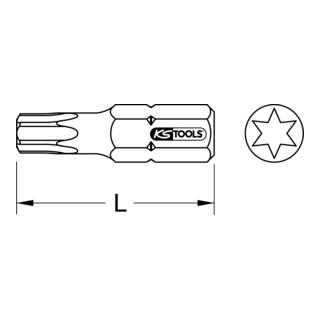 """KS Tools 1/4"""" TORSIONpower Bit Torx, 25mm, T8"""