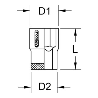 KS Tools 3/4'' BRONZEplus Stecknuss 6-kant (Zoll)