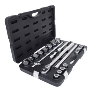 KS Tools 3/4'' Steckschlüssel-Satz, 21-tlg. 6-kant