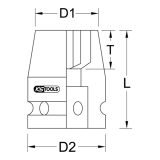 KS Tools 3/8'' Sechskant-Kraft-Stecknuss, kurz