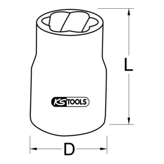 KS Tools 3/8'' Spiral-Profil-Kraft-Stecknuss