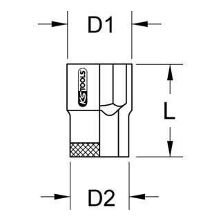 KS Tools 3/8'' TITANplus Sechskant-Stecknuss (Zoll)