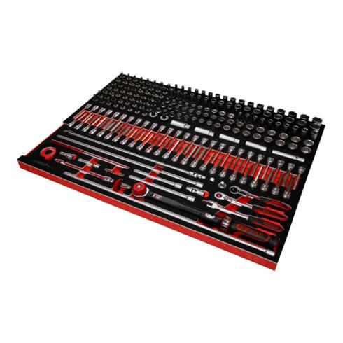 """KS Tools 3/8"""" Steckschlüssel-Satz in Schaumstoffeinlage, 221-tlg"""