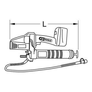 KS Tools 400 ml Akku-Fettpresse, 420bar, 18V, mit 2 Akkus und 1 Ladegerät