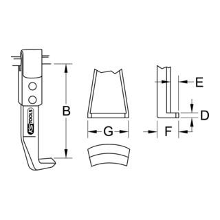 KS Tools Abzieherhaken höhenverstellbar