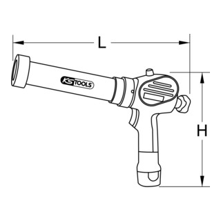KS Tools Akku-Kartuschen-Pistole 400 ml mit 2 Akkus und 1 Ladegerät