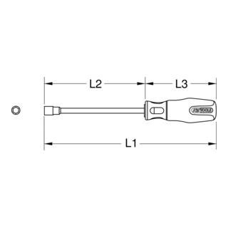KS Tools BERYLLIUMplus Stecknuss-Schraubendreher 6-kant (Zoll)