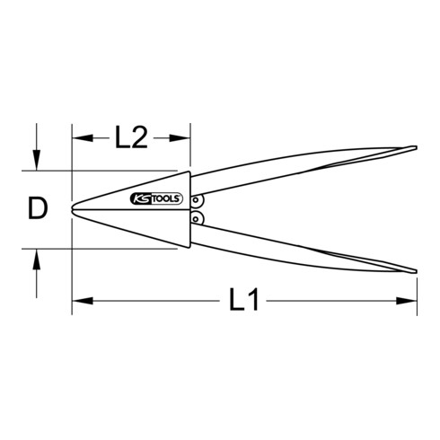 "KS Tools Bleirohr-Aufweitzange, 1.1/2"""