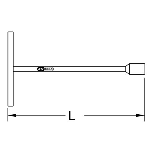 KS Tools BRONZEplus 6-kant-Steckschlüssel fester Quergriff