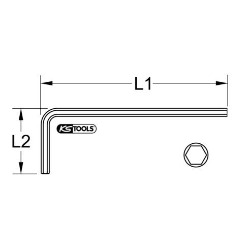 KS Tools BRONZEplus Innensechskant-Winkelstiftschlüssel lang