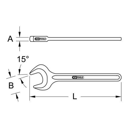 KS Tools BRONZEplus Zugmaulschlüssel 15°