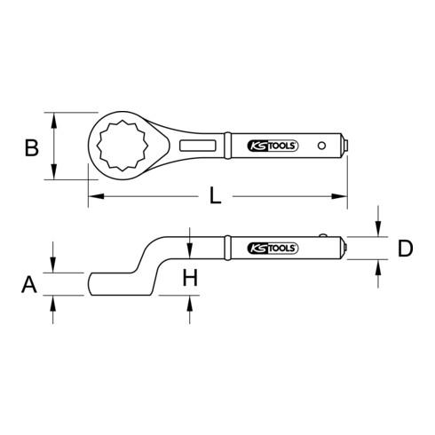 KS Tools BRONZEplus Zugringschlüssel
