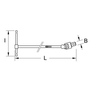 "KS Tools CLASSIC T-Griff Gelenkantriebsschlüssel XL 1//2/"""