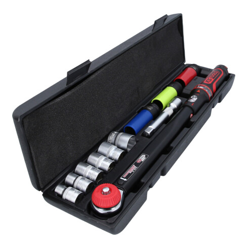 KS Tools Drehmomentschlüssel-Satz ERGOTORQUEprecision 1/2 Zoll, 20-200 Nm, 11-tlg.
