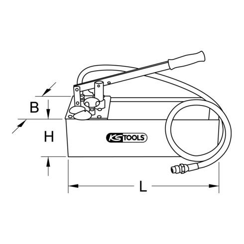 KS Tools Druck-Prüfpumpe, 12 Liter