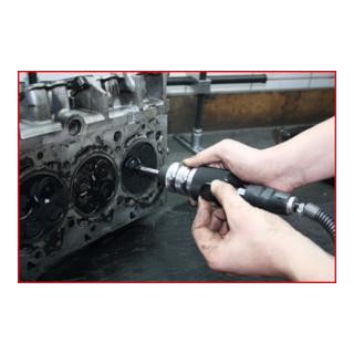 KS Tools Druckluft-Ventilschleifer mit 4 Saugtellern , 5-teilig
