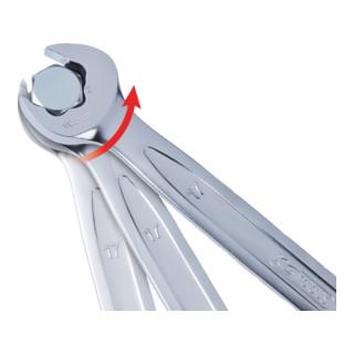 KS Tools DUO GEARplus® Ratschenringmaulschlüssel-Satz mit Maul-Ratschenfunktion, 5-teilig