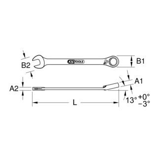 KS Tools DUO GEARplus Ringmaulschlüssel,Maul-Ratschenfunktion umschaltbar