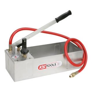 KS Tools Edelstahl Druck-Prüfpumpe, 12 Liter