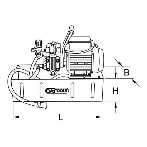 KS Tools Elektrische Druck-Prüfpumpe, 12 Liter