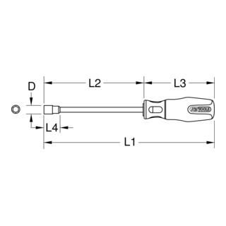 KS Tools ERGOTORQUEplus Stecknuss-Schraubendreher