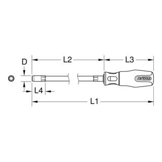 KS Tools ERGOTORQUEplus Stecknuss-Schraubendreher lang