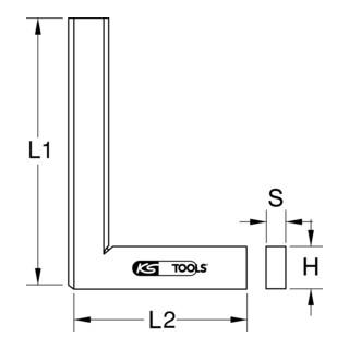 KS Tools Flachwinkel nach DIN 875/0