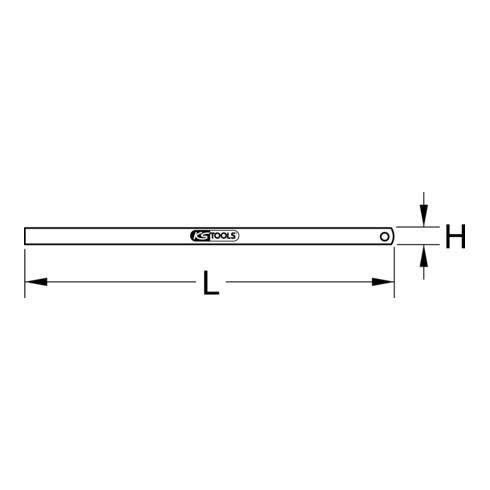 KS Tools Flexibler Stahlmaßstab