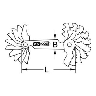 KS Tools Gewindelehre, Zollmaße, 22-teilig