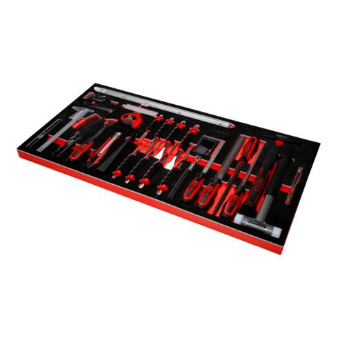 KS Tools Hammer- / Meißel- / und Messwerkzeug-Satz in Schaumstoffeinlage, 36-tlg