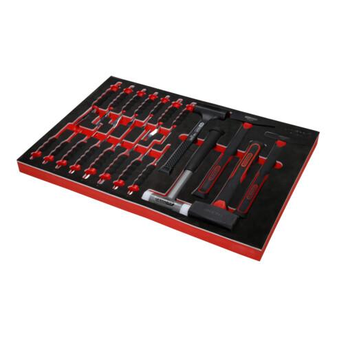 KS Tools Hammer- / und Meißel-Satz in Schaumstoffeinlage, 20-tlg